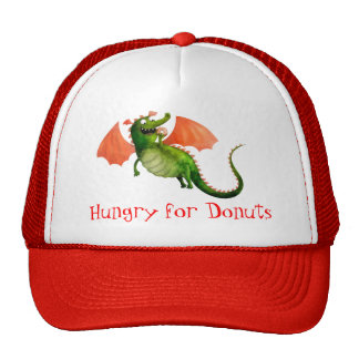Green Dragon with Donut Trucker Hat