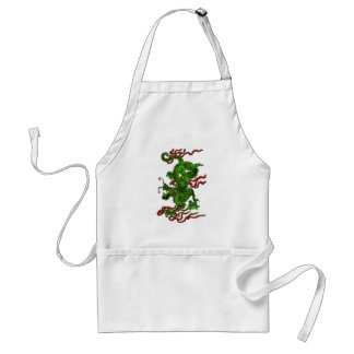 Green Dragon with Red Ribbons Apparel & Gifts Adult Apron