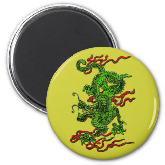 Green Dragon with Red Ribbons Apparel & Gifts Magnet