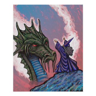 Green Dragon Wizard Posters