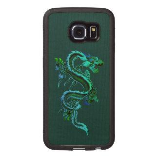 Green Dragon Wooden Samsung Galaxy S6 Edge Case
