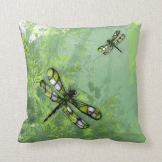 Green Dragonflies American MoJo Pillow