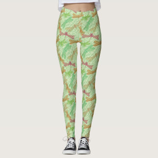 Green Dragonflies Leggings