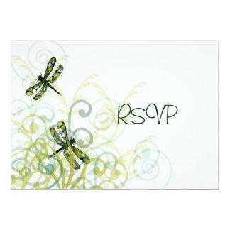 Green Dragonflies Reception RSVP Card