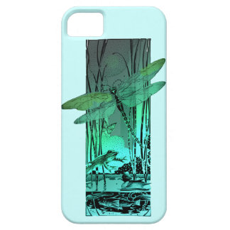 Green Dragonfly and Frog in the Pond iPhone SE/5/5s Case