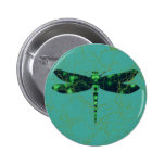 Green Dragonfly Buttons