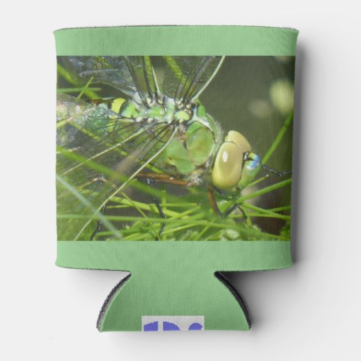 Green Dragonfly Can Cooler