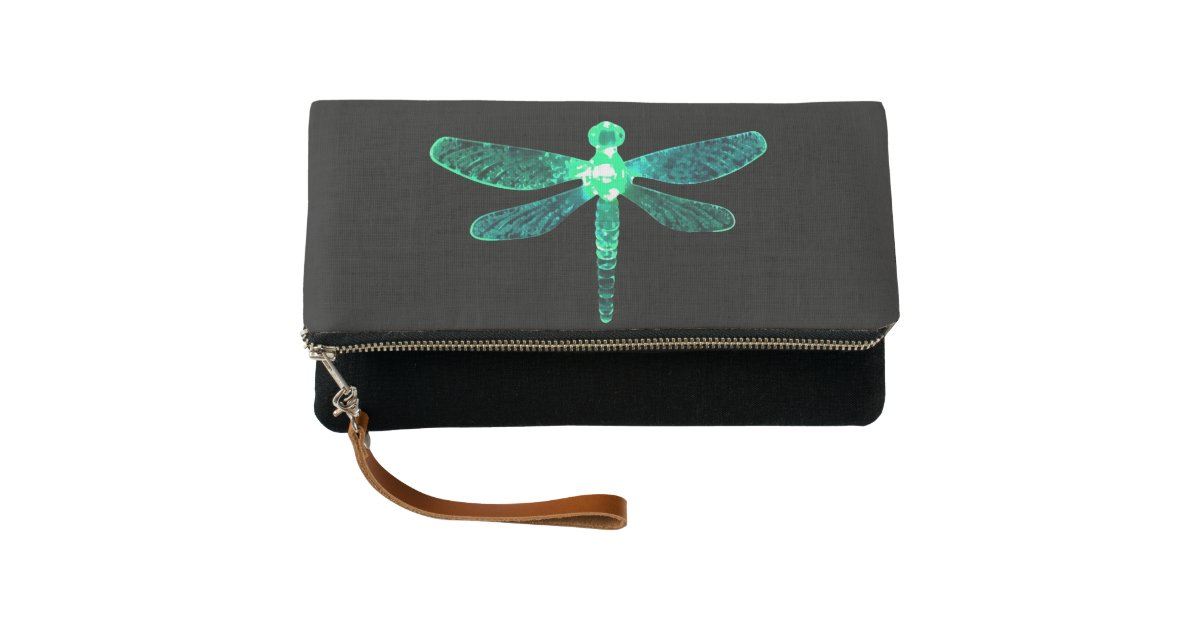 Green Dragonfly Clutch