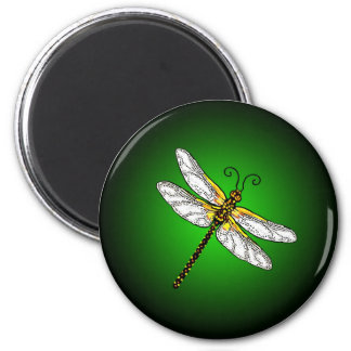 Green Dragonfly Dragonflies St Patrick Magnet