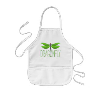 green dragonfly girly personalised kids' apron