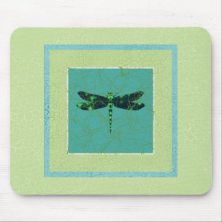 Green Dragonfly Mouse Pad