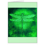 Green Dragonfly Notecard Card