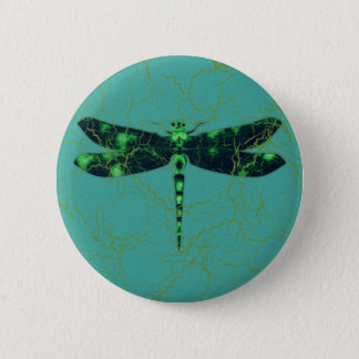 Green Dragonfly Pinback Button