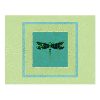 Green Dragonfly Post Cards