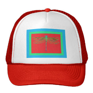 Green Dragonfly -Rouge Red Gifts by Sharles Trucker Hat
