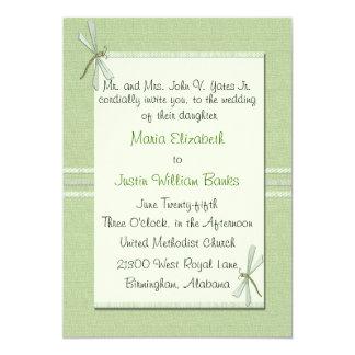 Green Dragonfly Wedding Invitation