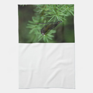 Green Dragonfly with Spotted Wing Kitchen Towels