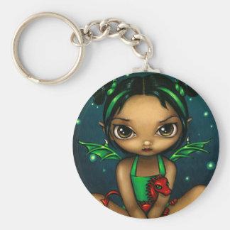 """""""Green Dragonling"""" Keychain"""