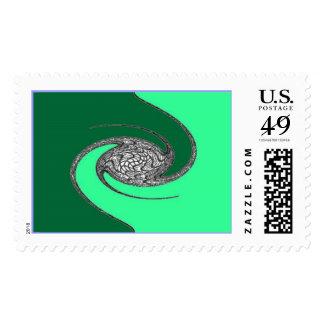 Green Dragon's Vortex Stamp