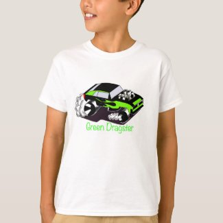 Green Dragster T-Shirt for Boys