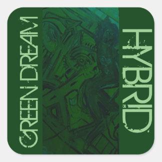 GREEN DREAM HYBRID SQUARE STICKER