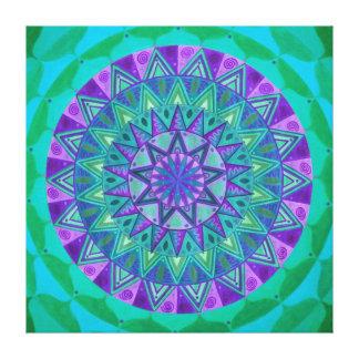 Green dream Mandala Canvas Print