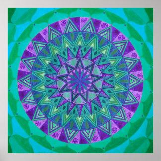 Green dream Mandala Poster