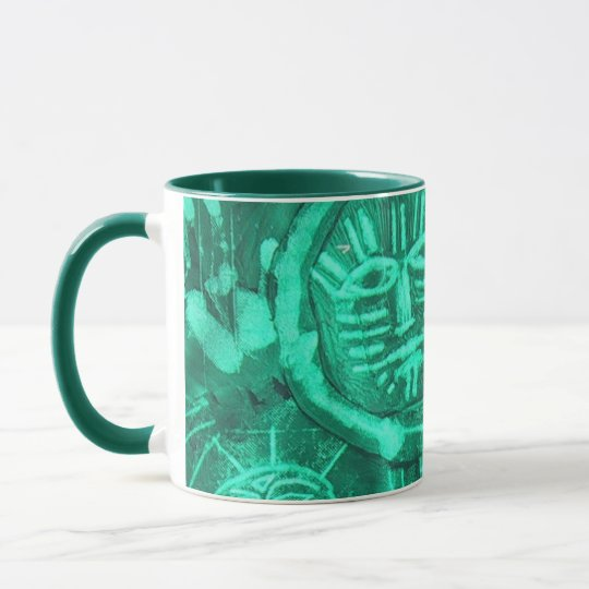 green dream ritual mug