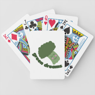 Green Dreams Bicycle Playing Cards