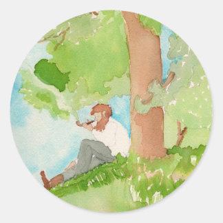 Green Dreams Classic Round Sticker