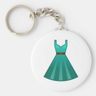 Green Dress - Emoji Keychain
