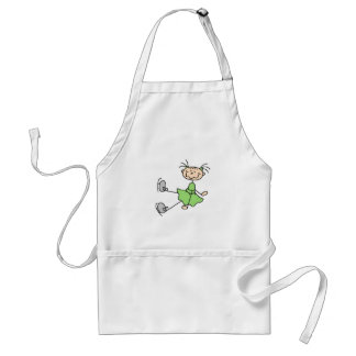 Green Dress Figure Skater Tshirts and Gifts Adult Apron