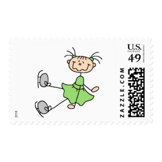 Green Dress Figure Skater Tshirts and Gifts Postage