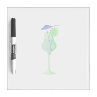 green drink glass w blue umbrella beach graphic.pn Dry-Erase board