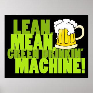 Green Drinkin' Machine Print