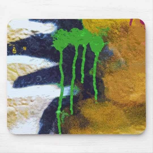 Green Drips Mouse Pad