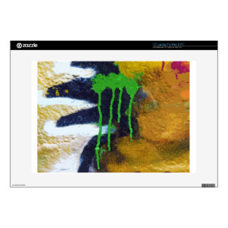 "Green Drips Skin For 15"" Laptop"