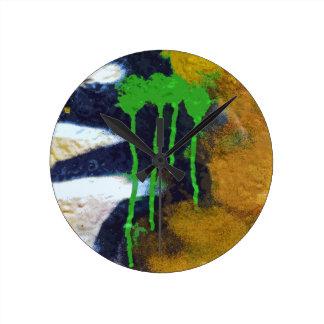 Green Drips Wallclock