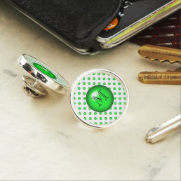 Green droplet/button dot design pin