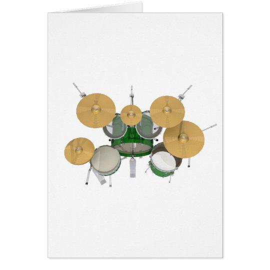 Green Drum Kit: Card