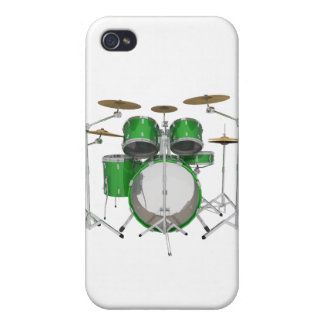 Green Drum Kit: Covers For iPhone 4