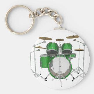 Green Drum Kit: Key Chains