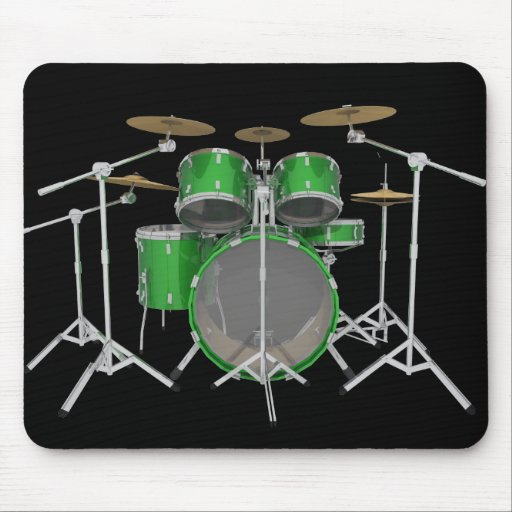 Green Drum Kit: Mousepad