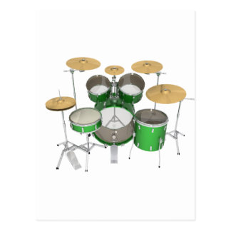 Green Drum Kit: Postcard