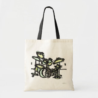 "GREEN  ""Drum Set""  From Stitchlip's House Series Tote Bag"