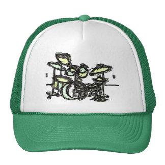 "GREEN  ""Drum Set""  From Stitchlip's House Series Trucker Hat"