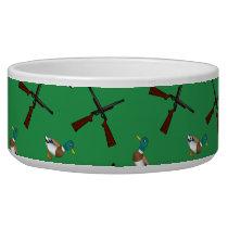 Green duck hunting pattern bowl