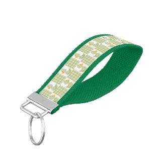 Green Ducks Wrist Keychain