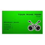 Green Dueling Banjos Double-Sided Standard Business Cards (Pack Of 100)