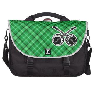 Green Dueling Banjos Laptop Messenger Bag